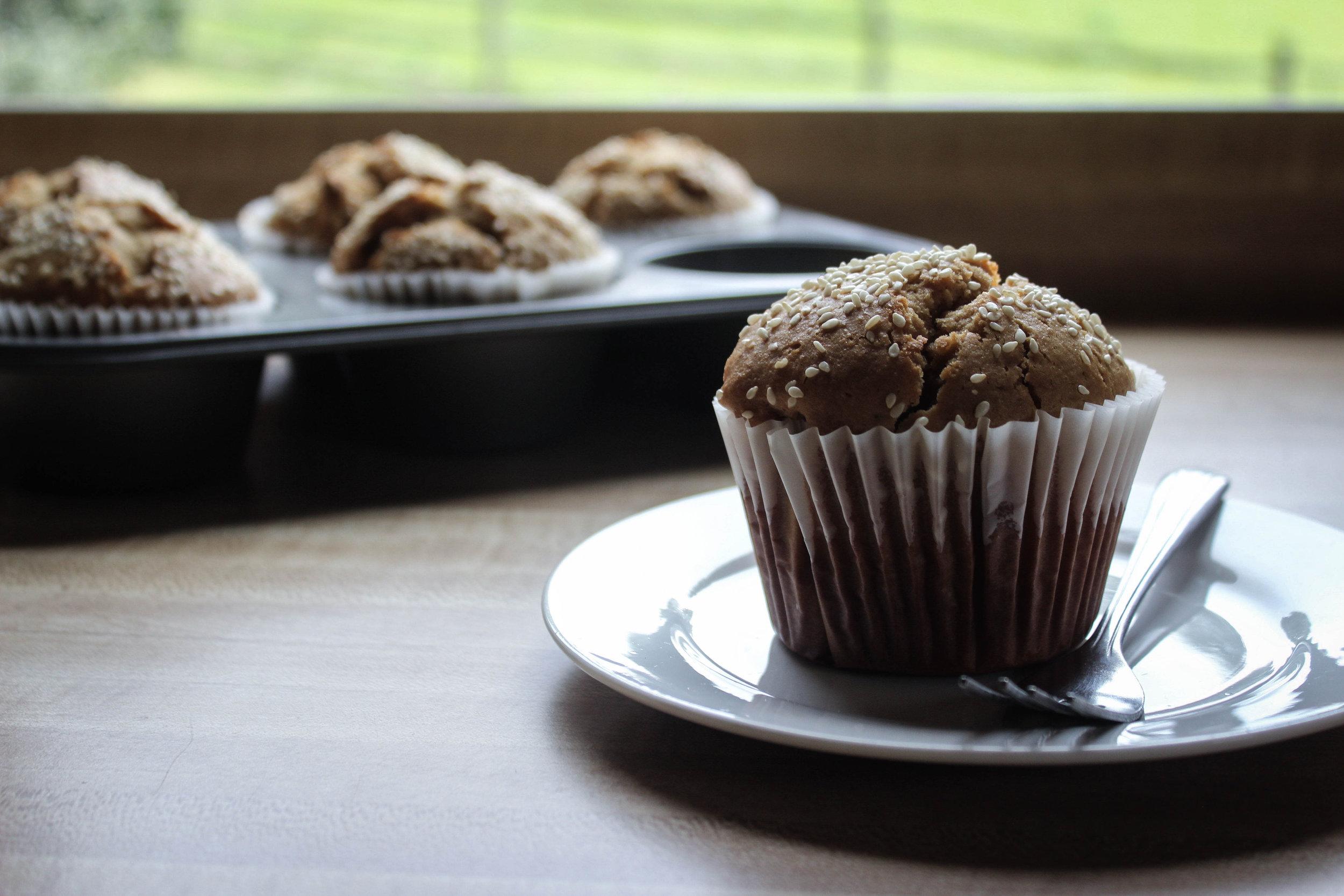 Tahini Ginger Muffins