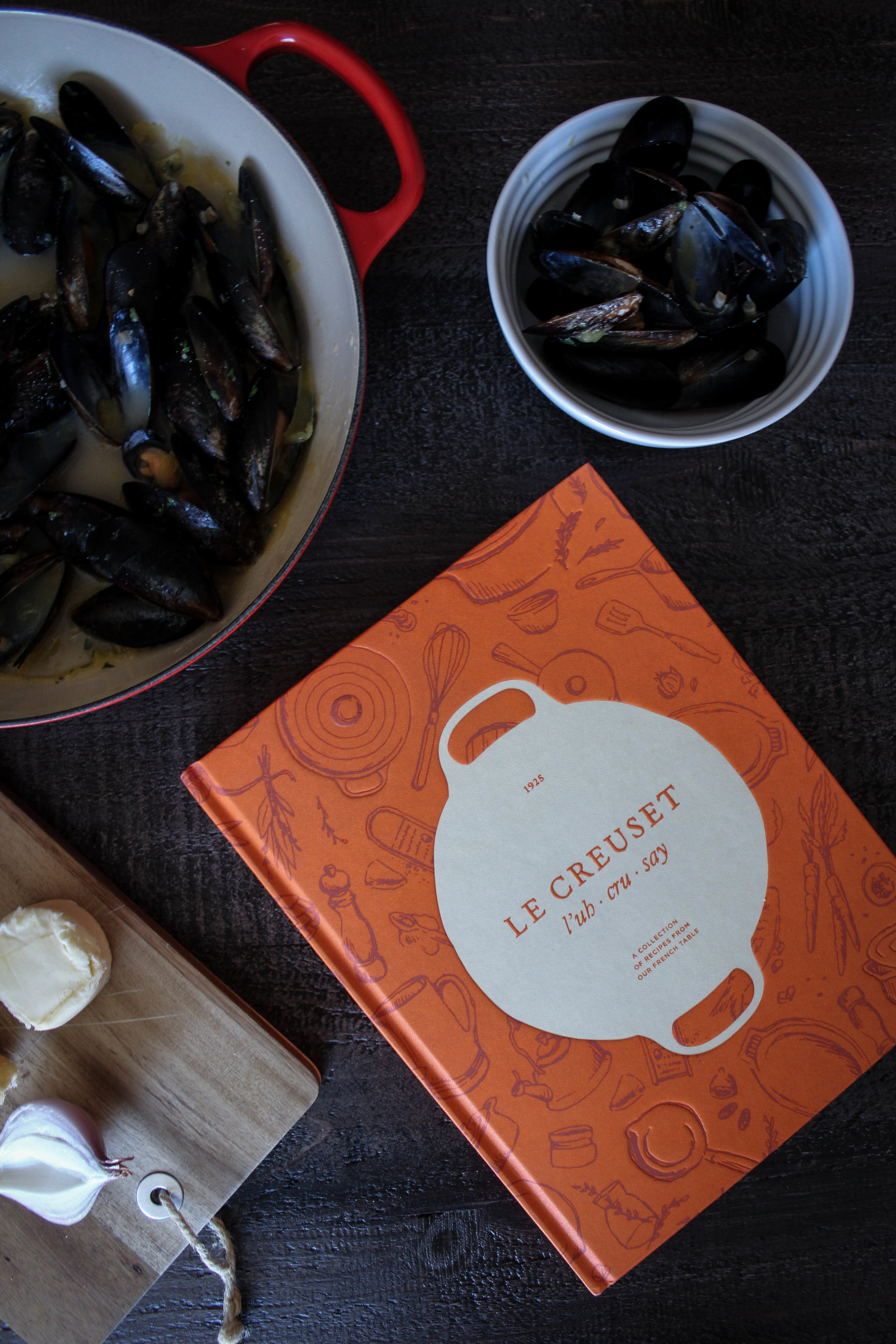 GIVEAWAY WINNER - LeCreuset's Cookbook - and Mussels!