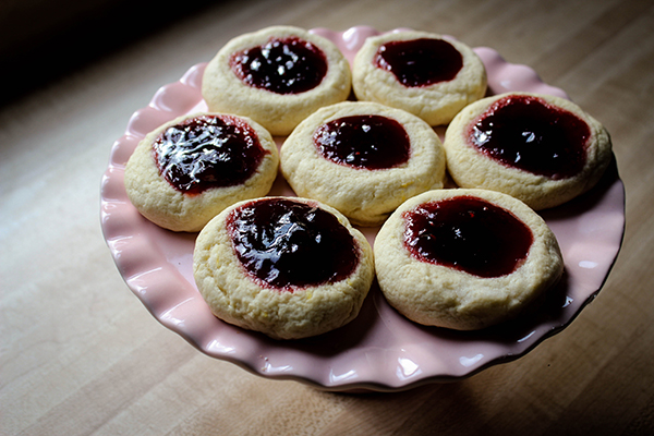 Giant Jammy Thumbprint Cookies