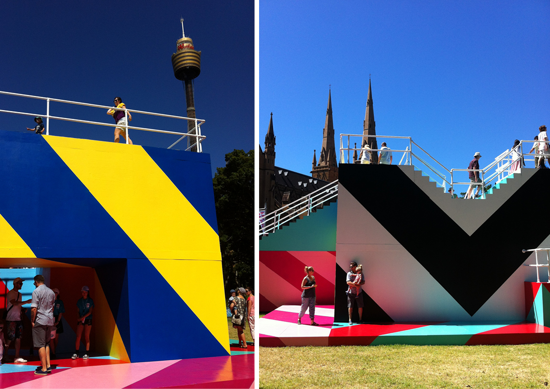 Image #5 'Higher Ground', a MaserArt installation as part of Sydney Festival 2015, Hyde Park