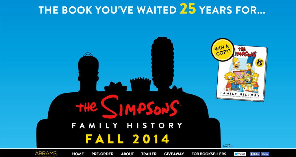 The Simpsons Family History  Microsite