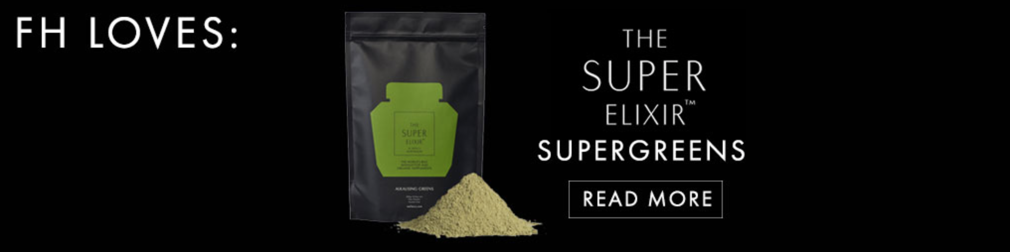 """The simple fact it's made by our own Elle Macpherson should be enough to get you wanting to try this designer black glass bottle of green powder - but what is it really that is making this Super Elixir take the health and beauty world by storm?  Made from over 40 different super foods and gracing the """"must have' daily products with the likes of Kate Moss, this is a morning routine you need in your life. It contains Acia, Beta Caroten, D-Biotin, Wheat grass, Zinc Citrate, Alfalfa, Barley Grass, Grapeseed Extract, Beetroot, Calcium and more.....but what do all these do?  In a simple word - EVERYTHING. From keeping your hair thick, your skin sparkling, your bones healthy and strong this super greens powder adds a little extra something to all those important bits and bobs in your body!  Want to get it now or learn more....head to  WelleCo  and get yourself a bottle today!"""