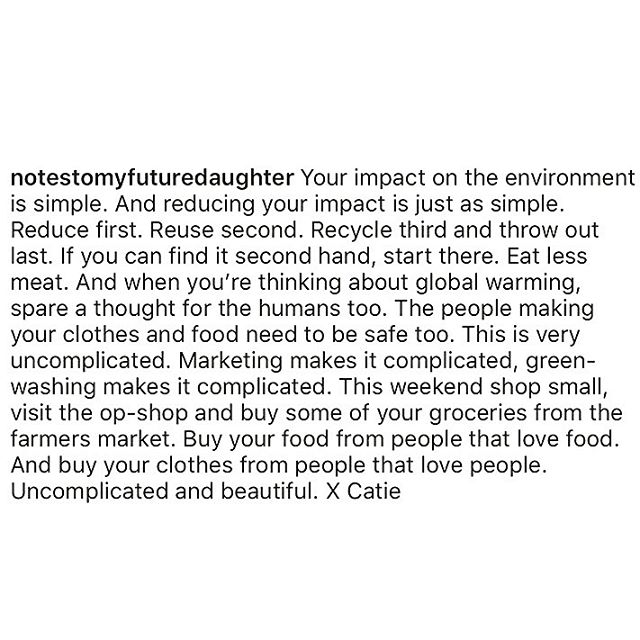 • shop smart, small and local where possible 🙌🏻 beautiful words by Catie @thestaplestore 💕