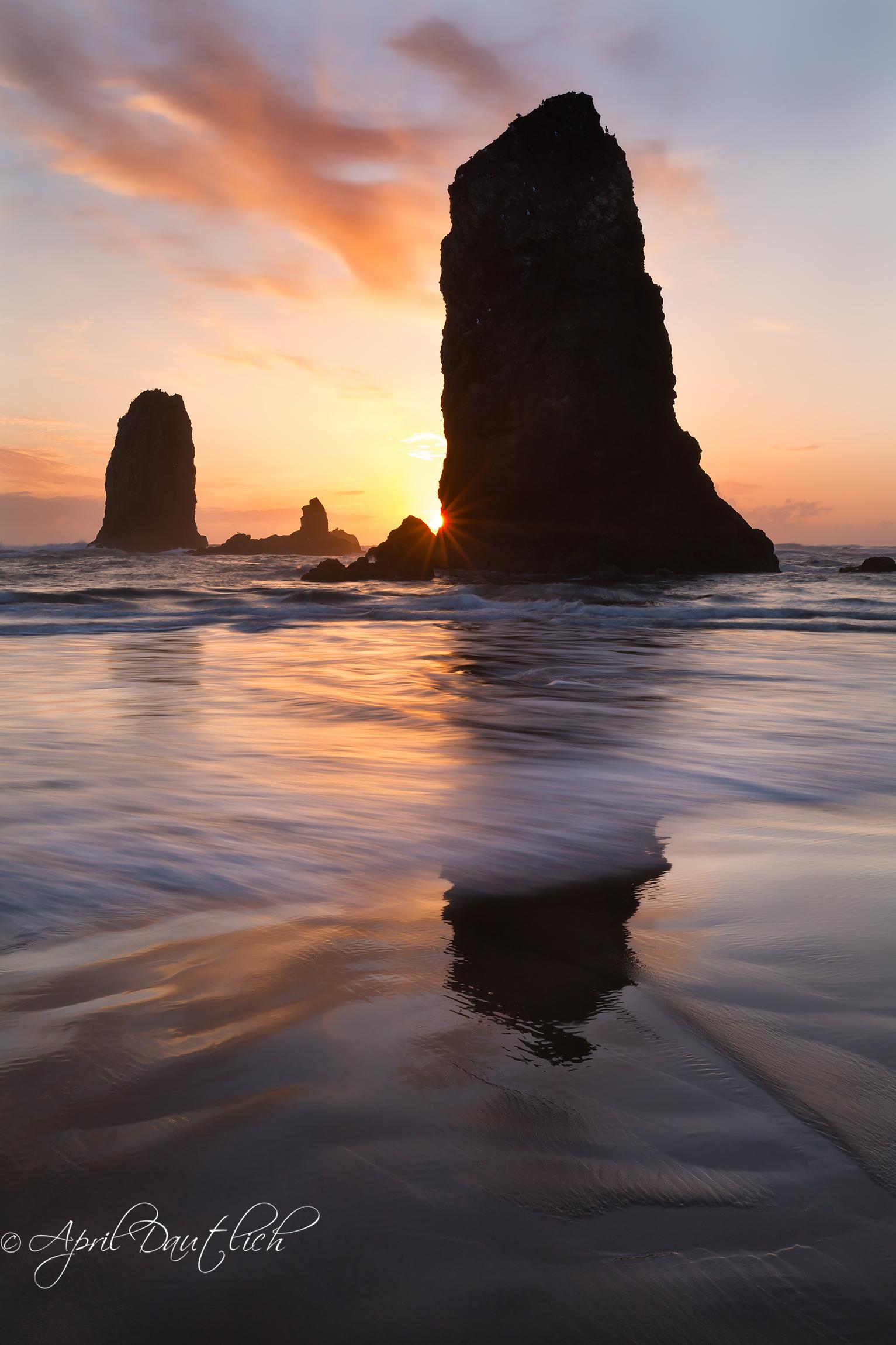 Needles Sunset Sunburst