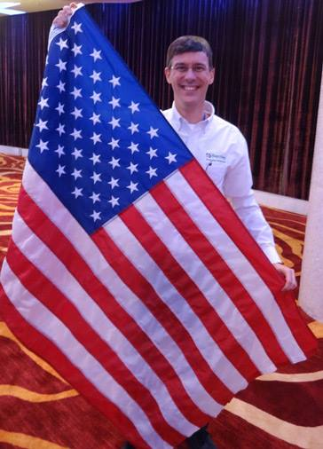 Brad at the 2014 World Memory Championship in China