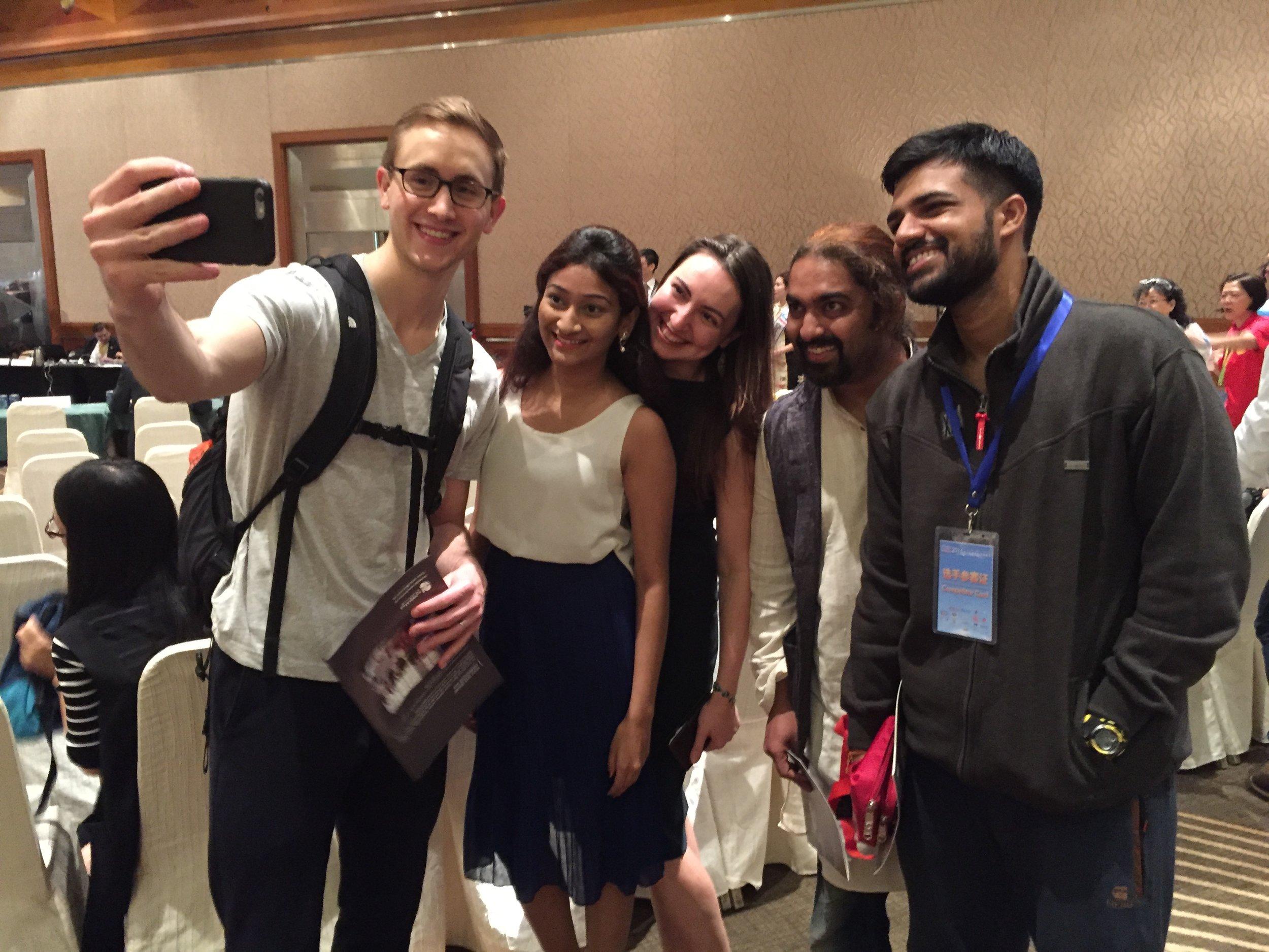 With Sri, Ekaterina, Omkar, and Prateek