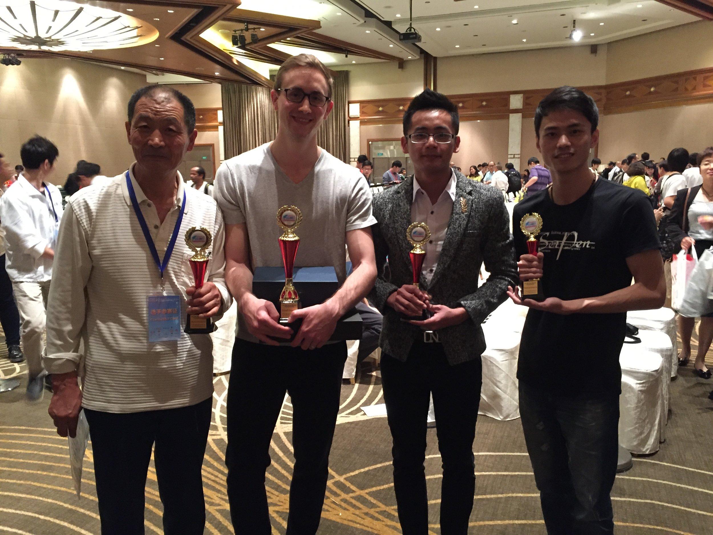 With Zhen Guoliang, Huang Shenghua, and Su Zehe