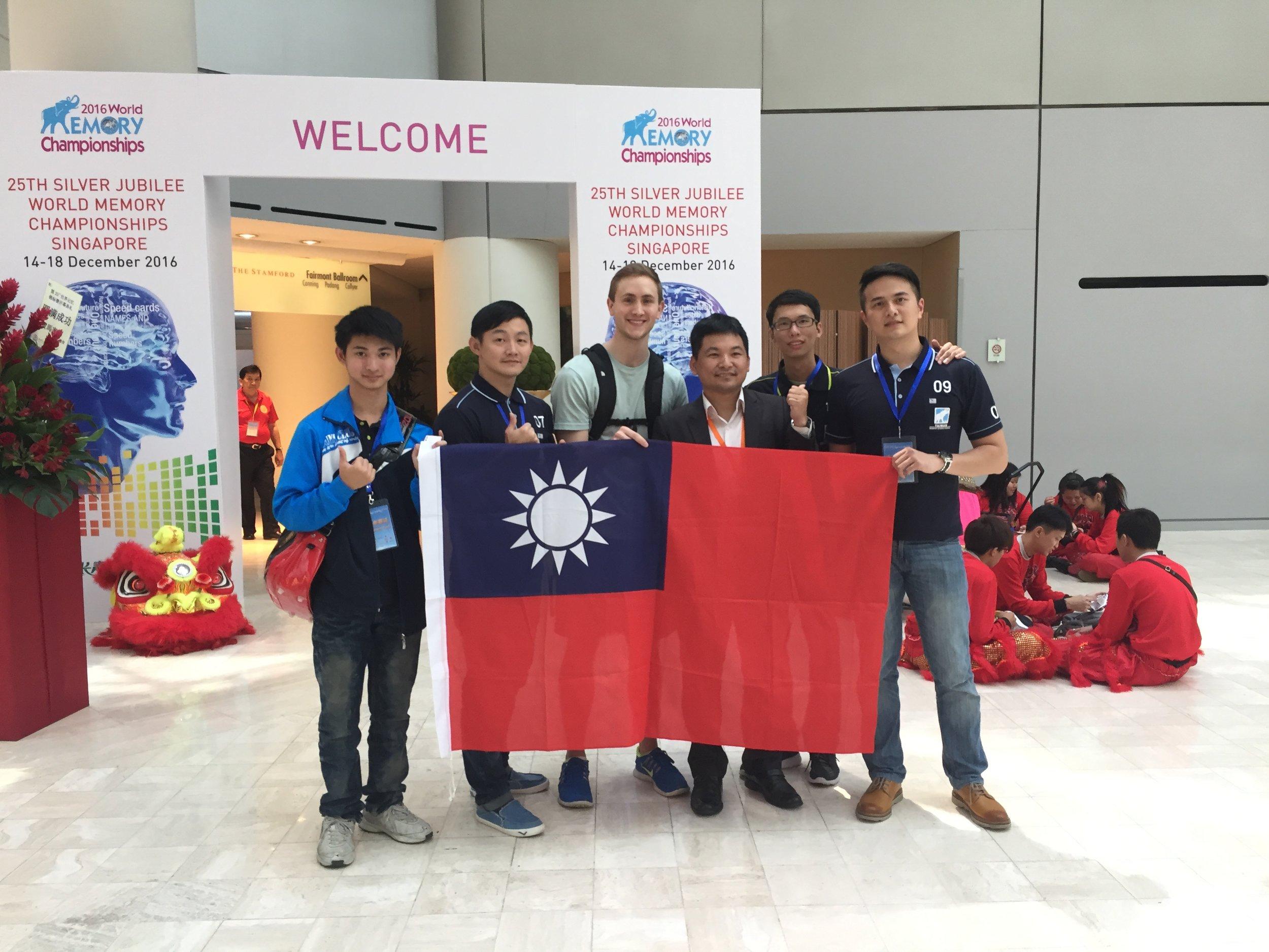 With Team Taiwan: Chunlin, Qingwan, Ken, Hungli, and Yuming