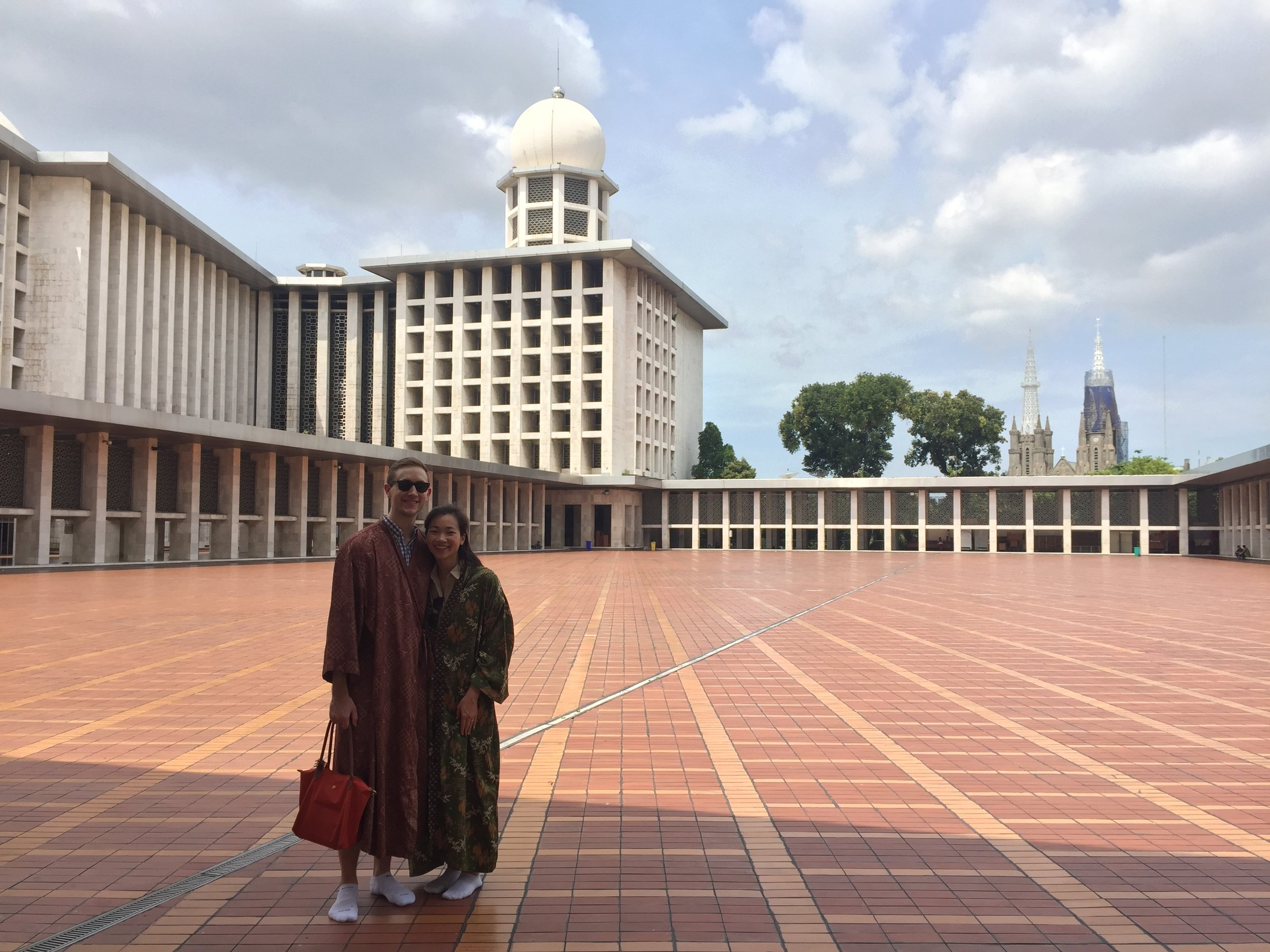 At Istiqlal Mosque (3rd largest mosque in the world)