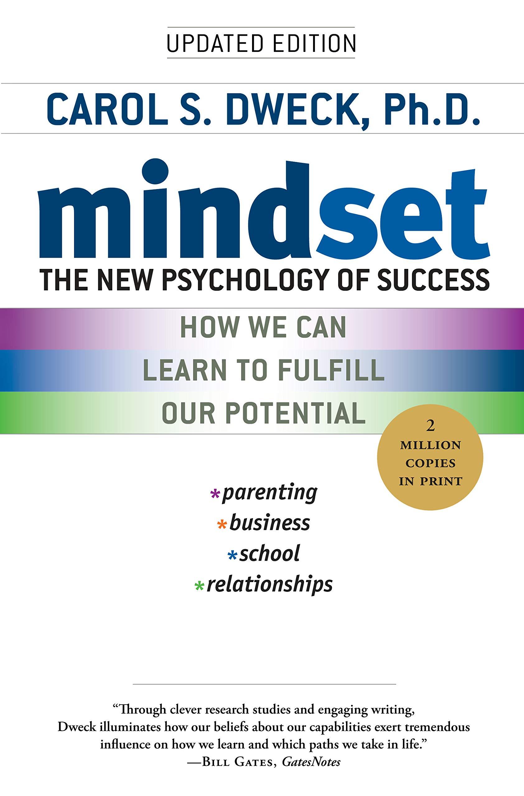 mindset new psychology of success carol dweck mullen memory science of achievement favorite books