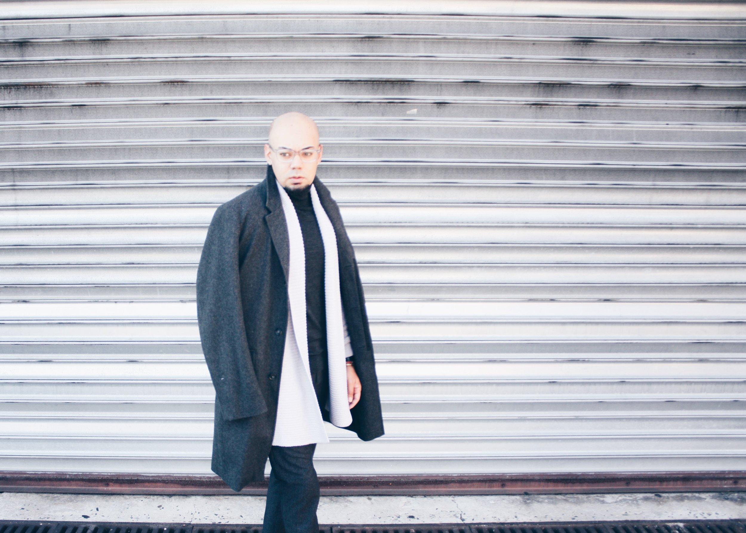 Monochromatic Grey + Oversized Overcoat -