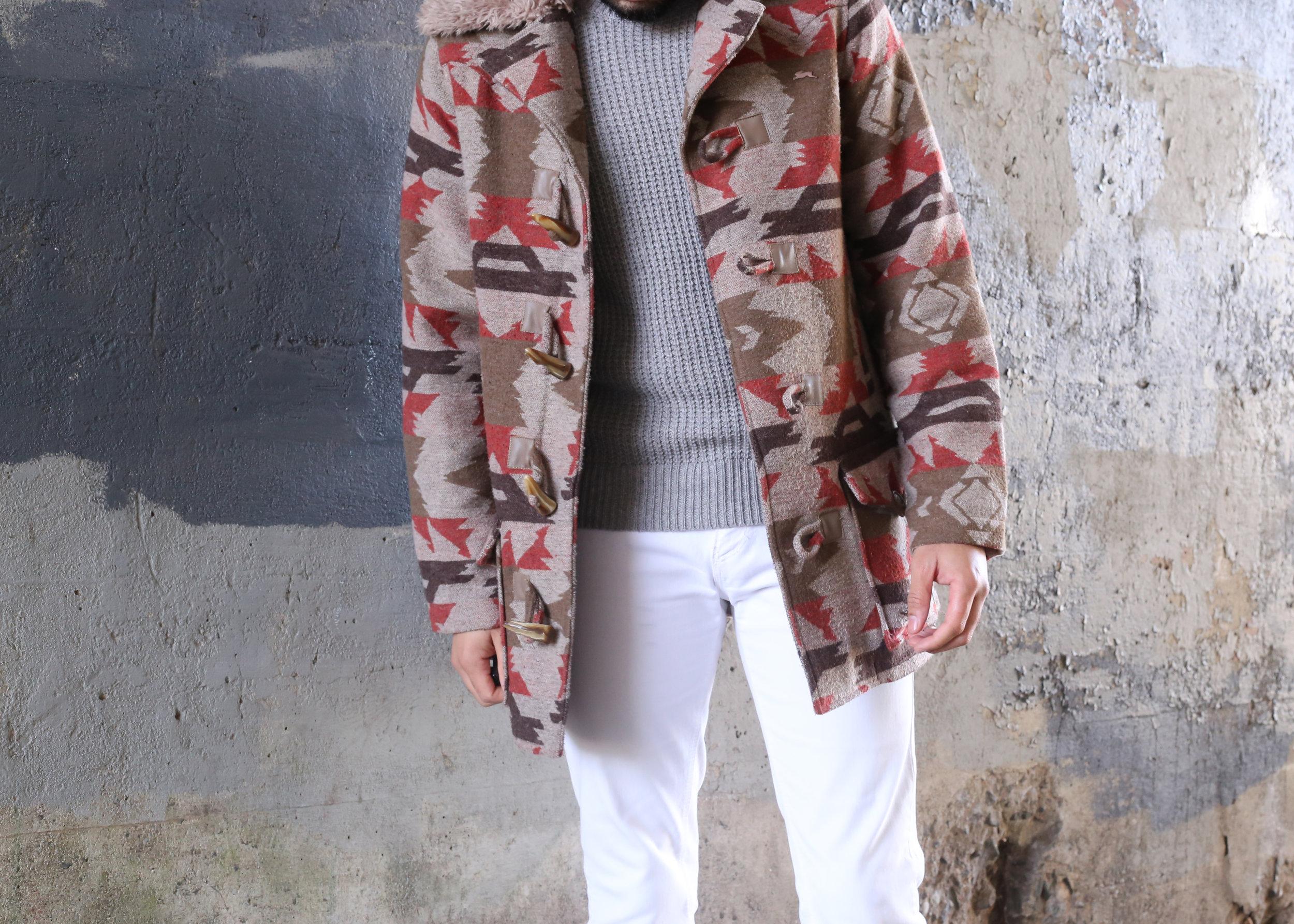Aztec Printed Jacket + White Denim -