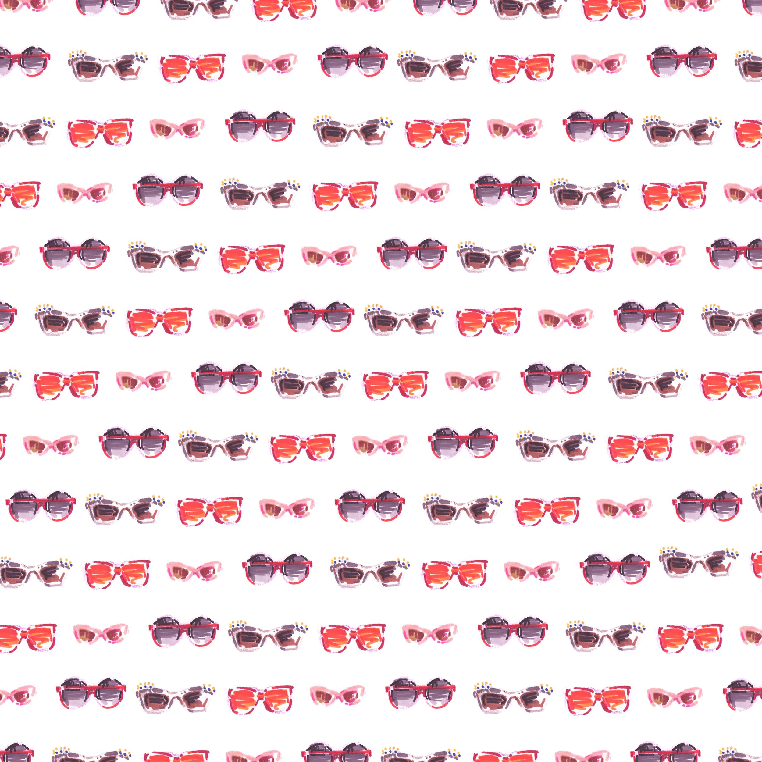 Pattern4. Sunglasses(Red)