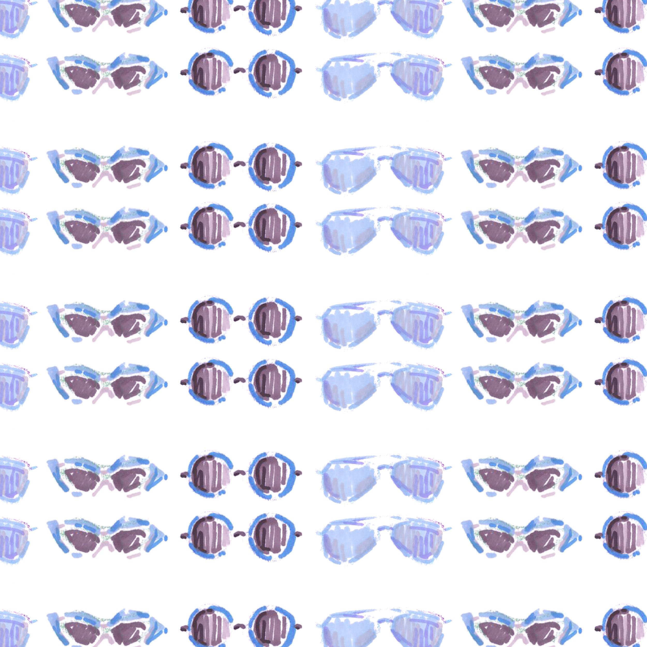 Pattern5. Sunglasses(Blue)