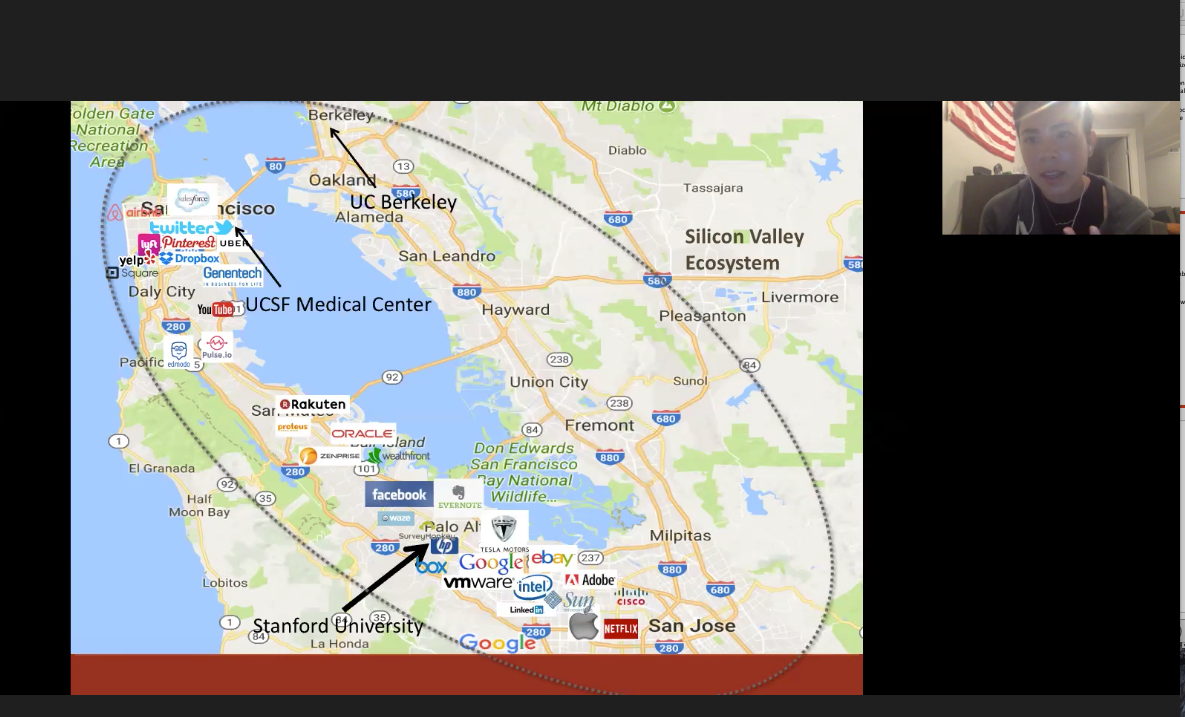 Virtual classroom on Silicon Valley and Entrepreneurship