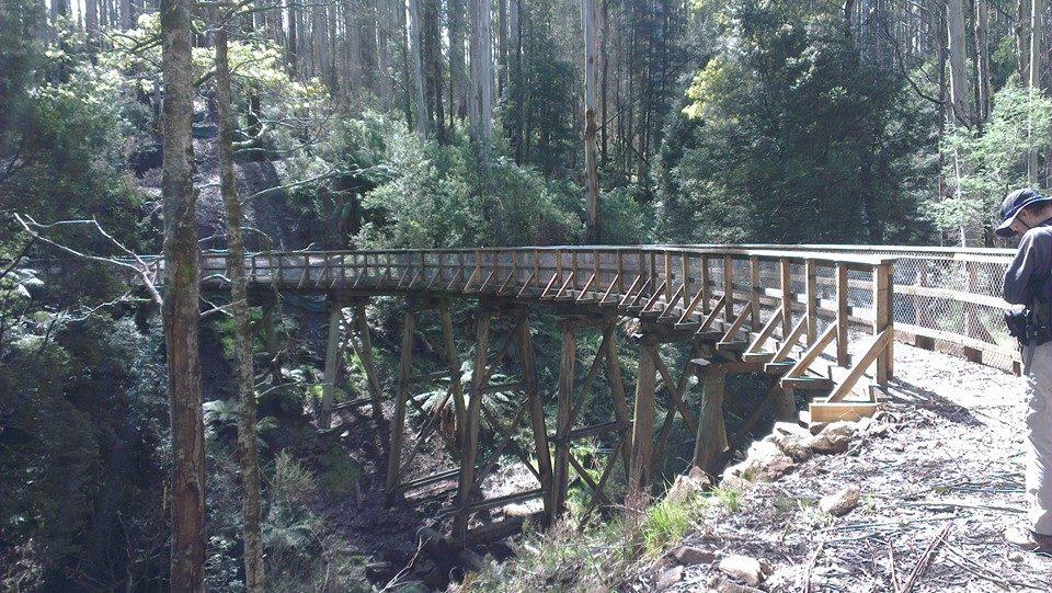 Beech Creek trestle bridge.  © David Sisson 2013
