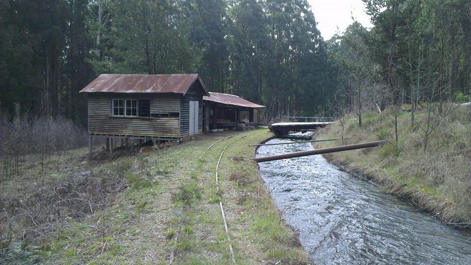 Old mini sawmill, Rubicon Aqueduct tramway.   © David Sisson 2013