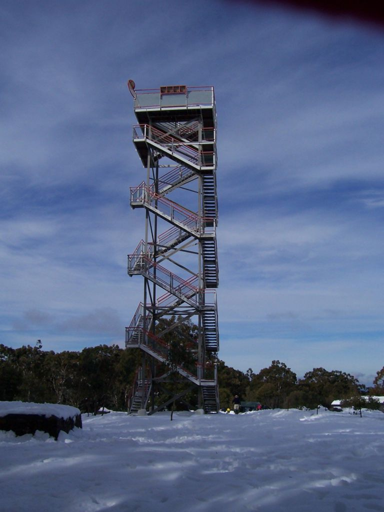 Donna Buang summit. This is the third tower on the site.© David Sisson  2007.