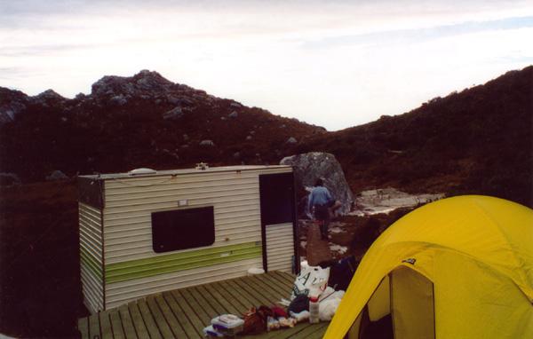 The hut at High Moor, Western Arthur Range. © 2003. Simon Walliss and David Sisson
