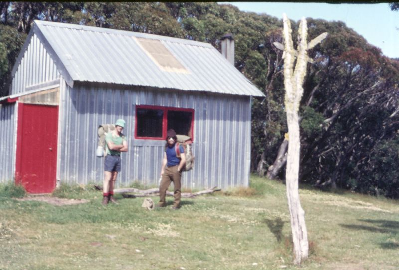 The old Federation Hut with its original cladding.  © Tony Marsh . Used with permission.