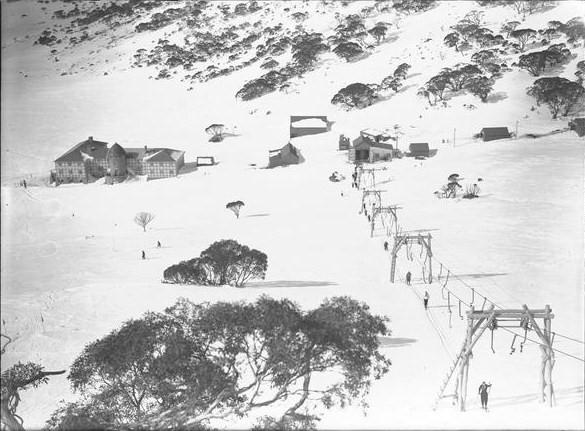 Australia's second ski lift, the Charlotte Pass ski hoist or Meathook J-bar (1938-1952)