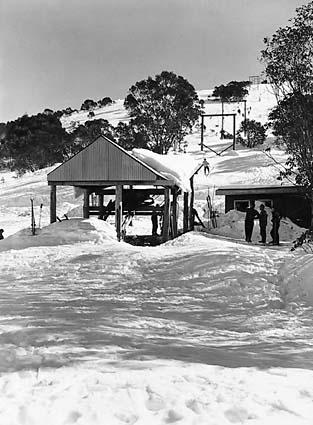 Bob Hymans' single chair at Falls Creek in the late 1950s