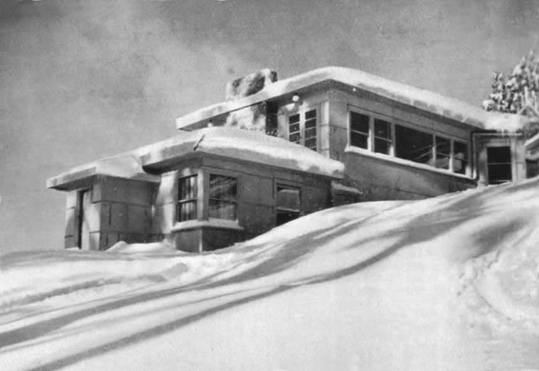 The Buller Chalet showing the 1939 additions.