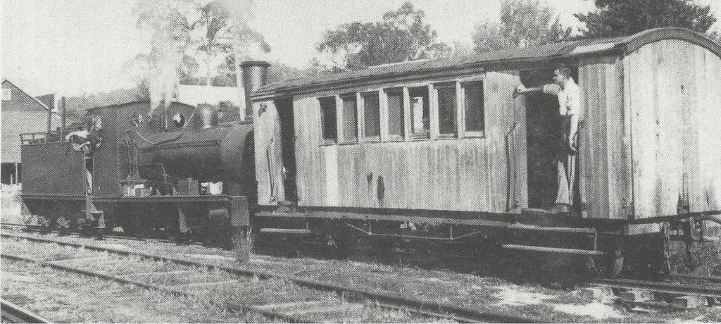 The Powelltown passenger train.
