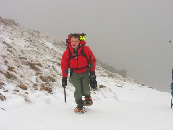 The site administrator on a spring stroll on the West Ridge of Mt Buller.
