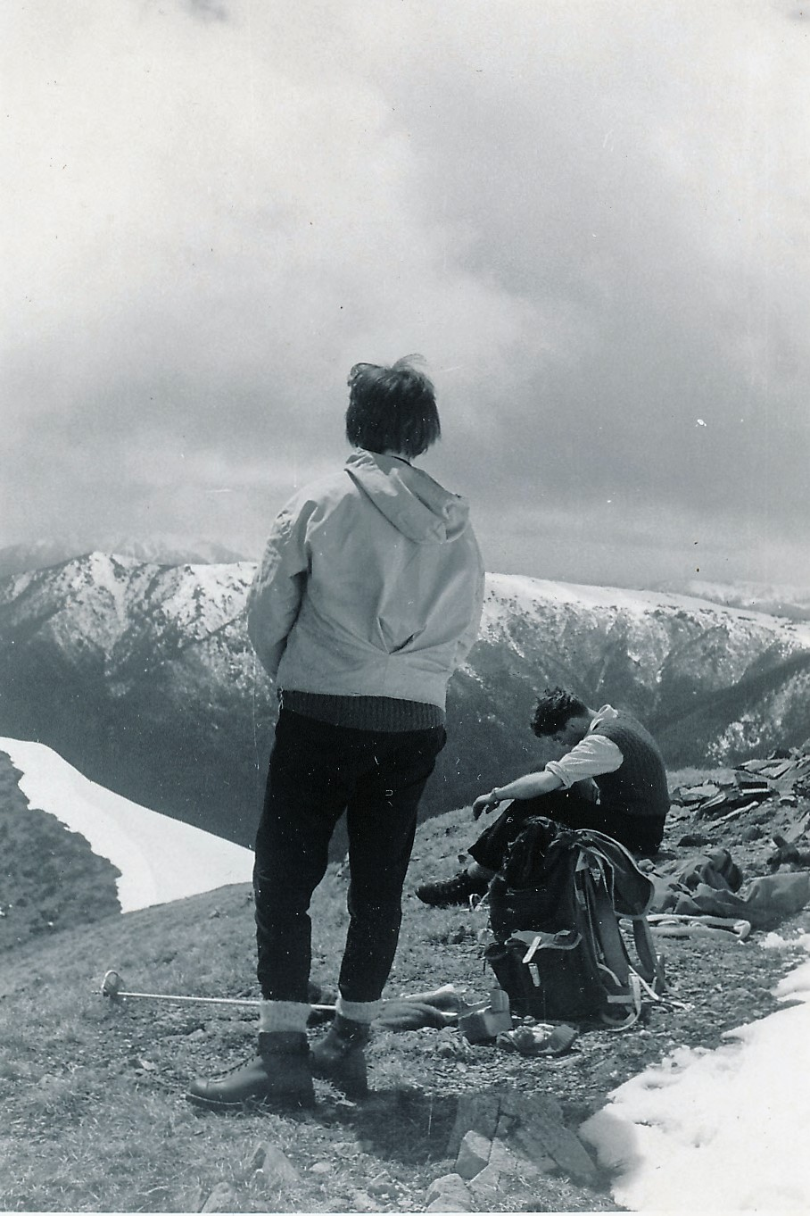 Hikers on Feathertop, spring 1962. © Margaret King. Used with permission