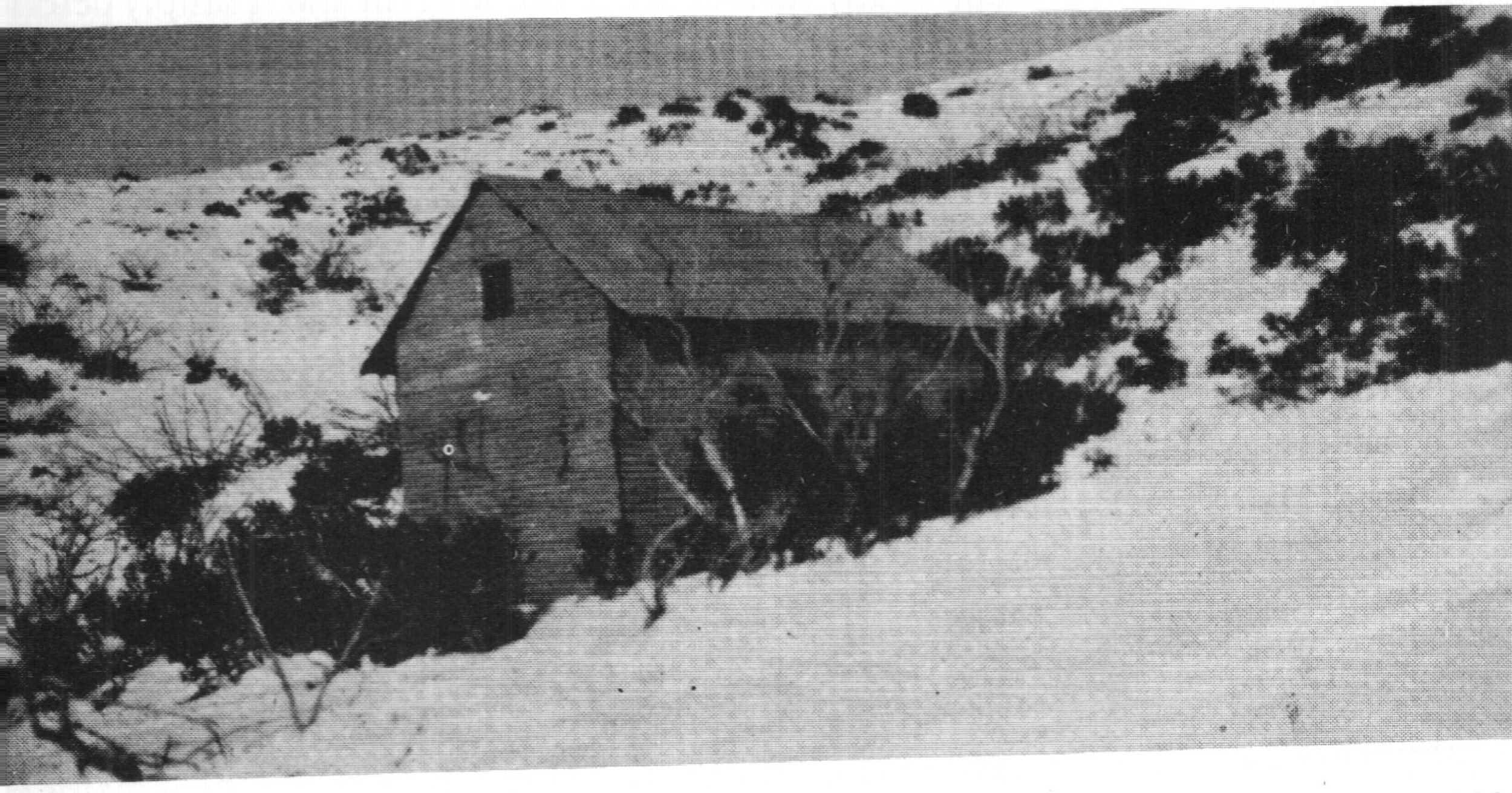 The SCV Boggy Creek cabin built in 1934. This was the equal second ski club lodge in Victoria after the University Ski Club cabin on Mt Donna Buang.