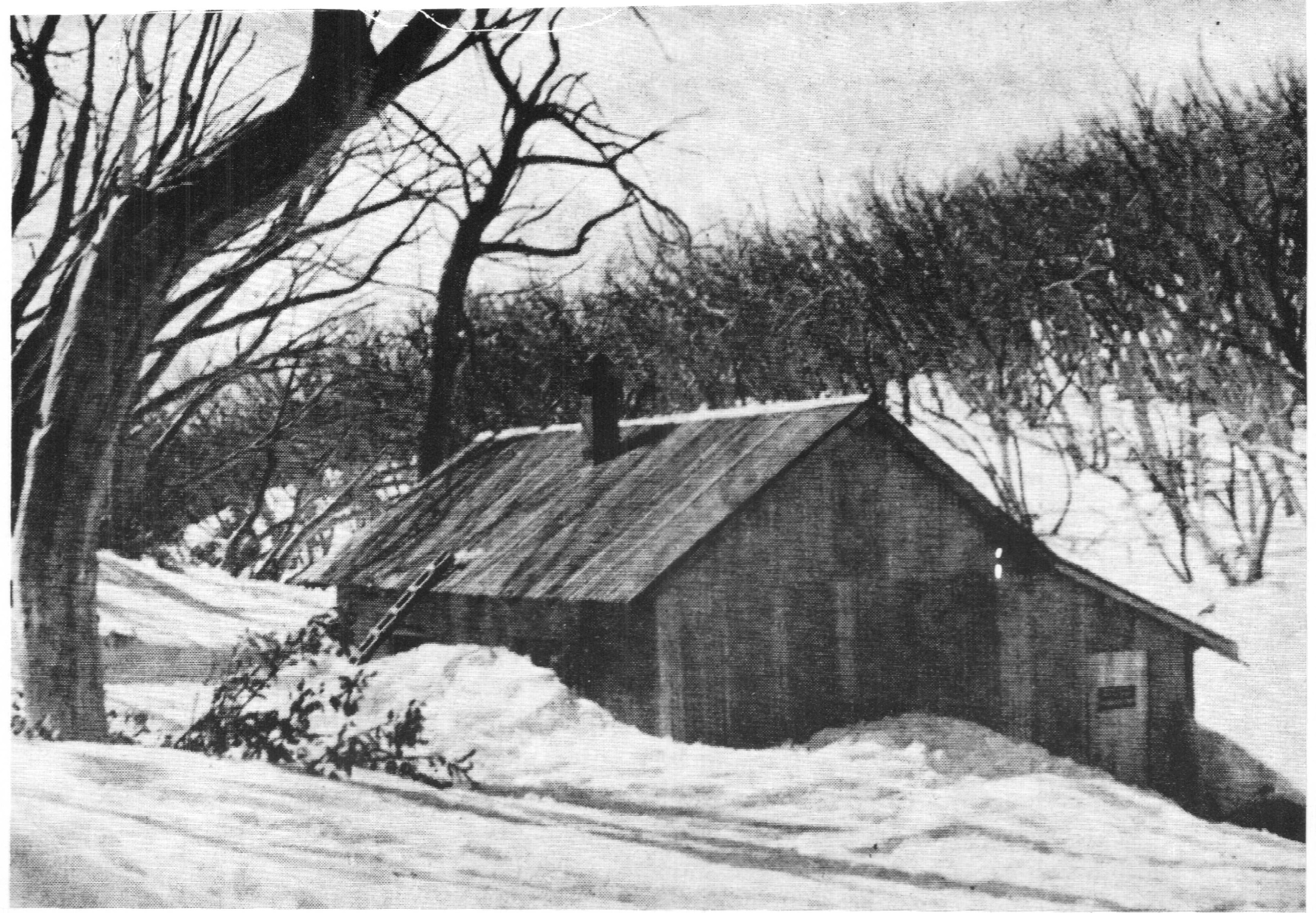 The 1945 hut built at what became Baw Baw village. Photo M Thomson.