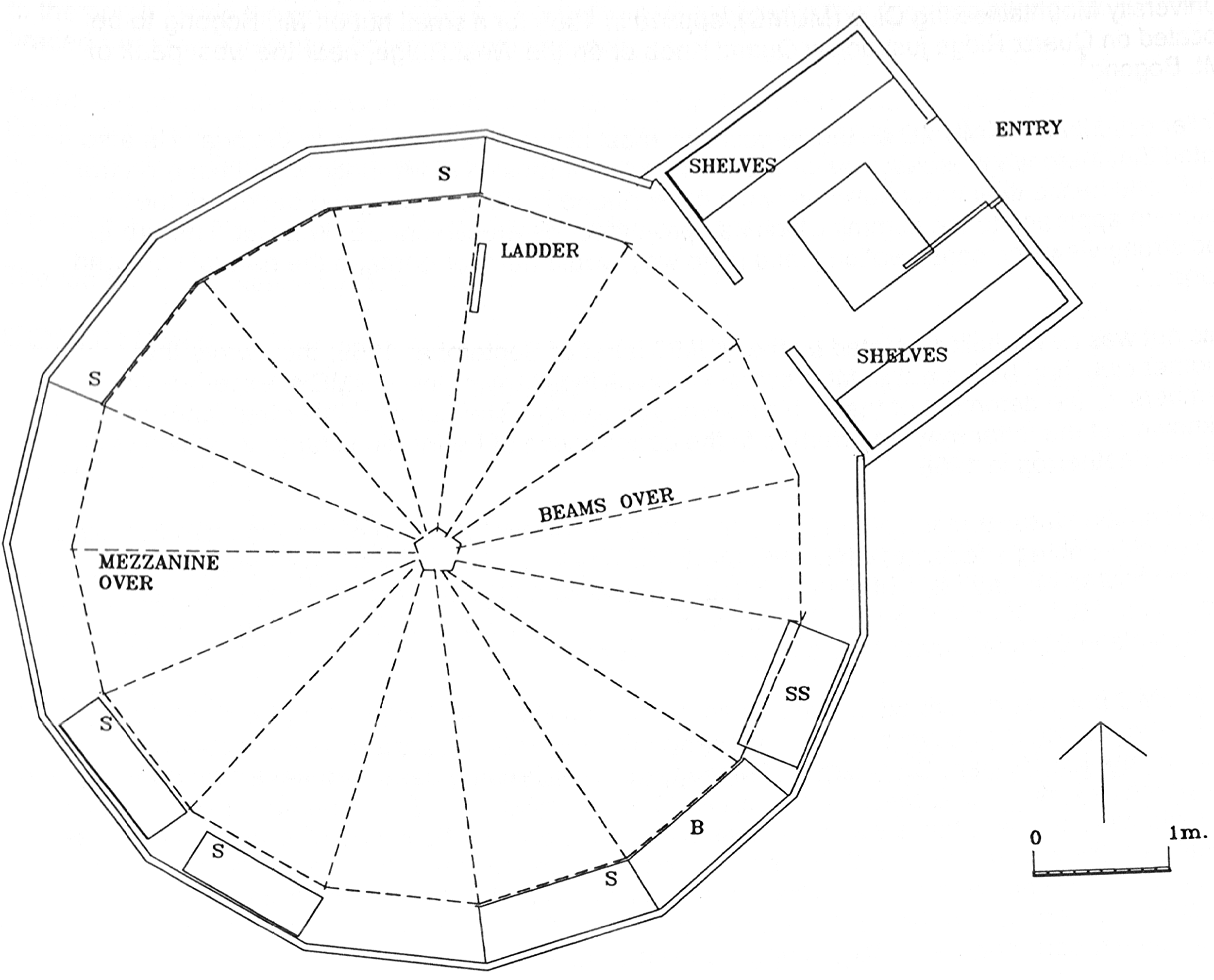 MUMC Hut floorplan. From  Graeme Butler & Associates . Victorian alpine huts heritage survey, 1996. p 204. Used with permission.