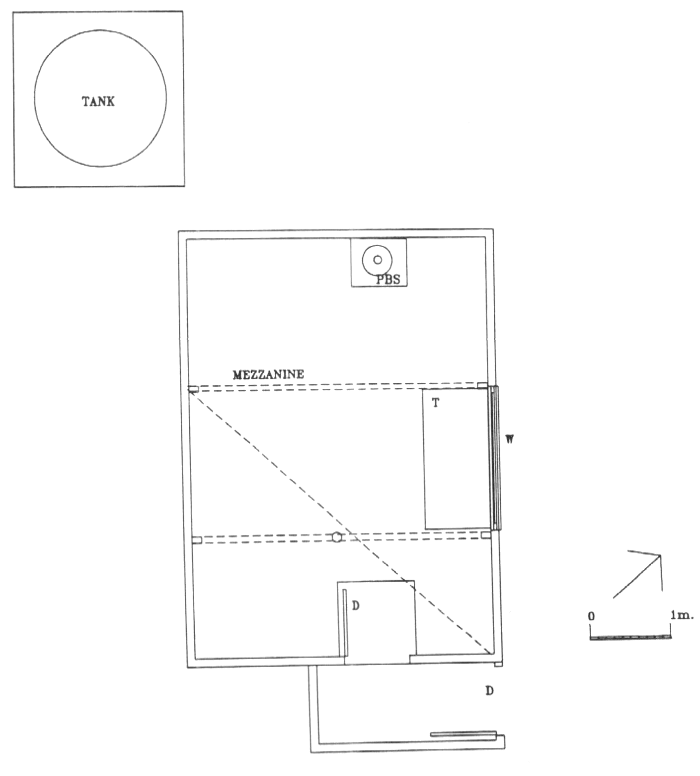 Plan of the original Federation Hut. From: Victorian alpine huts heritage survey, 1996. p 102