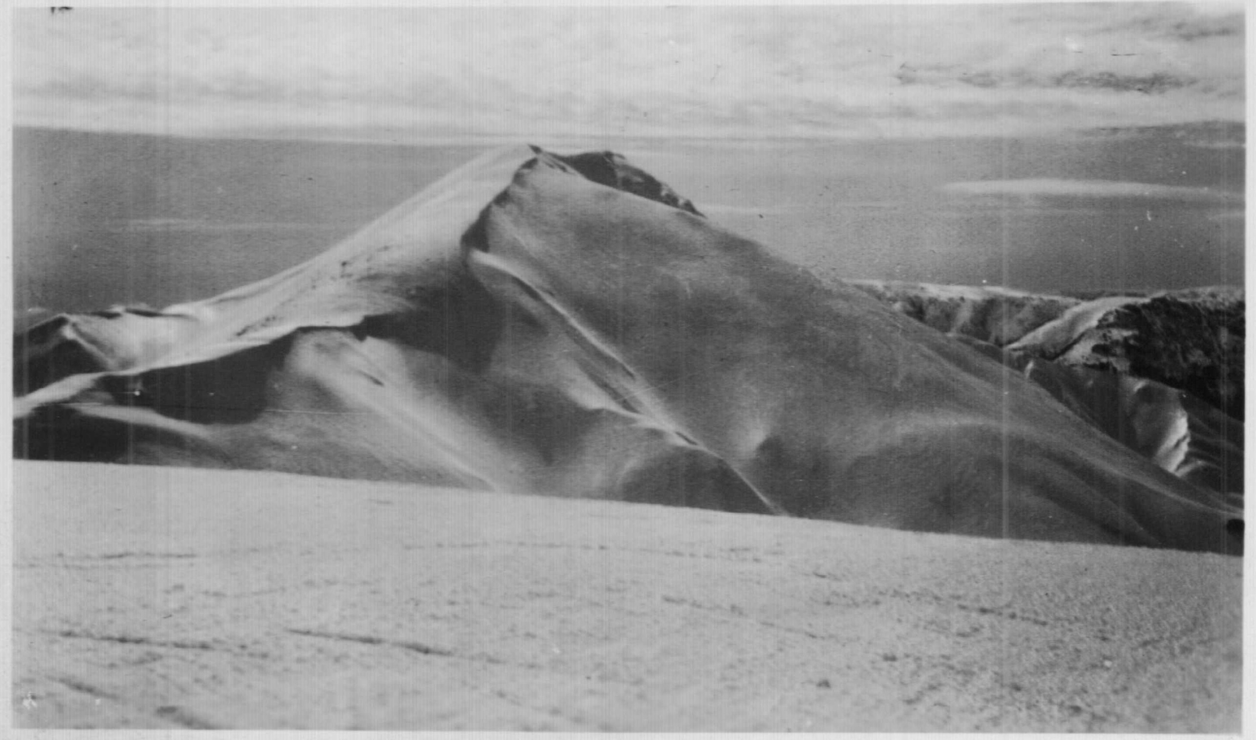 The classic view of Mt Feathertop in winter. 1930 Kath Magill.