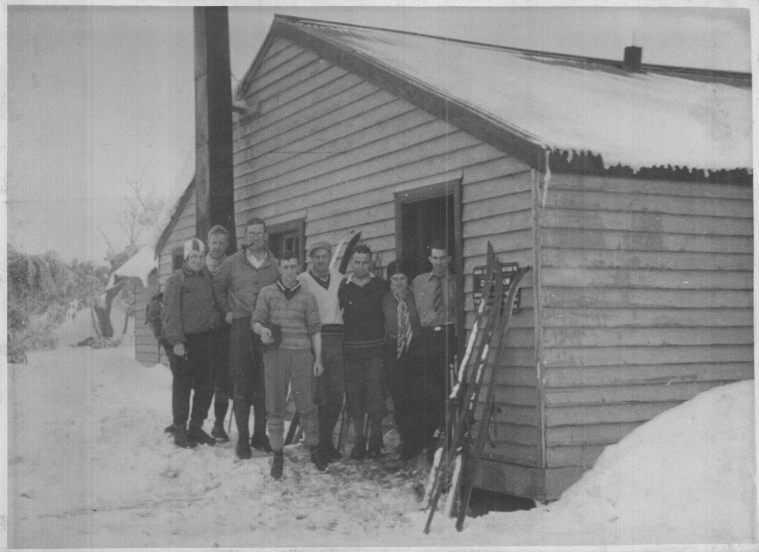 'A jolly trip to the Horn Hut with the Geelong boys.' 1930. Kath Magill.
