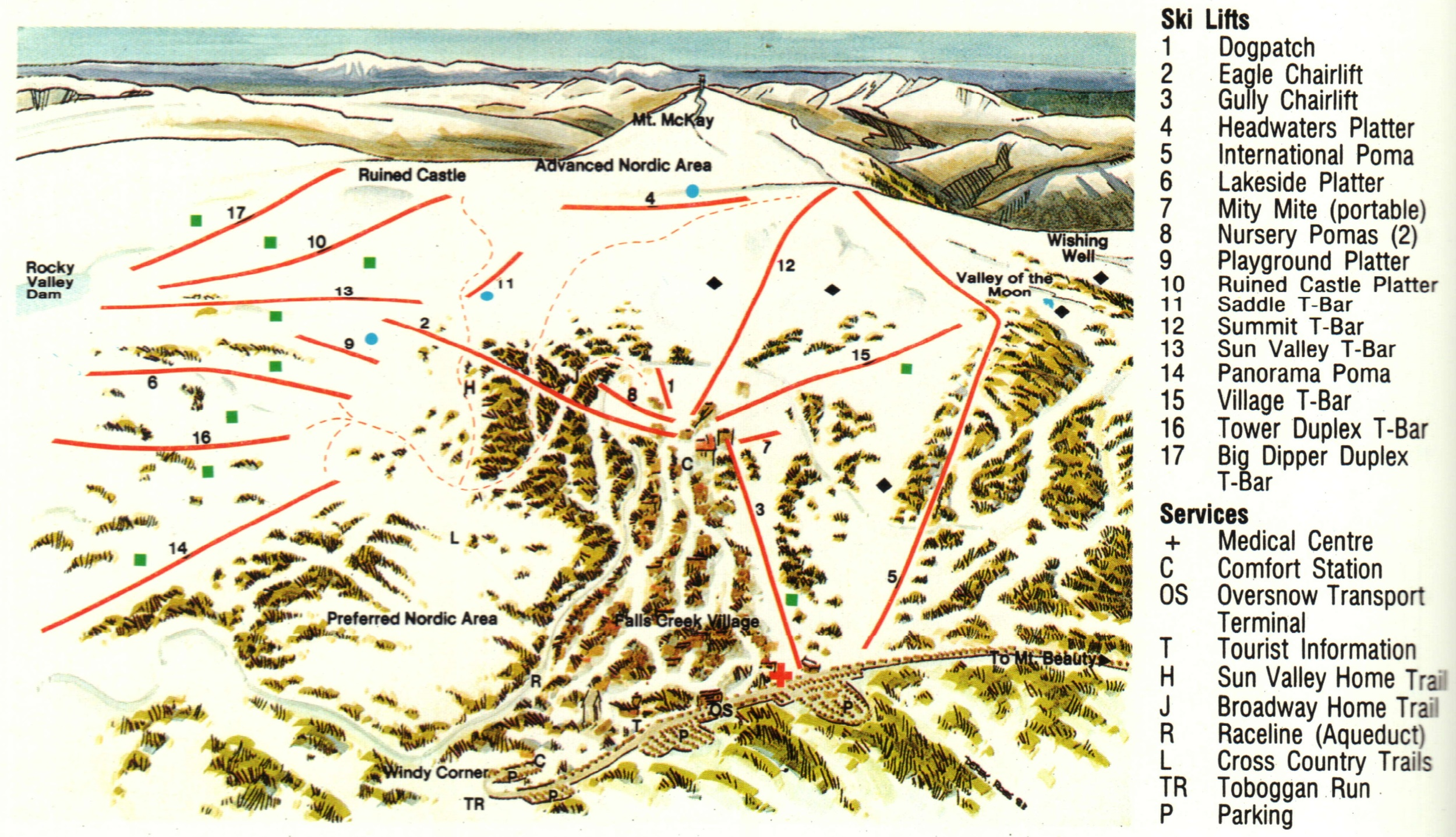 Ski Resort Maps Australian Mountains