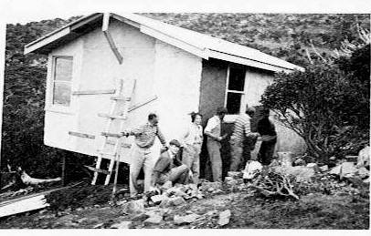 Photo supposedly from 1950 showing construction of MVSC (thank you to Fiona Magnussen and Sharyn Chambers)