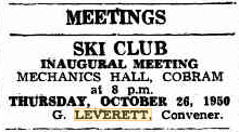 Notice of Inaugural Meeting (Cobram Courier, Friday 13th October 1950)