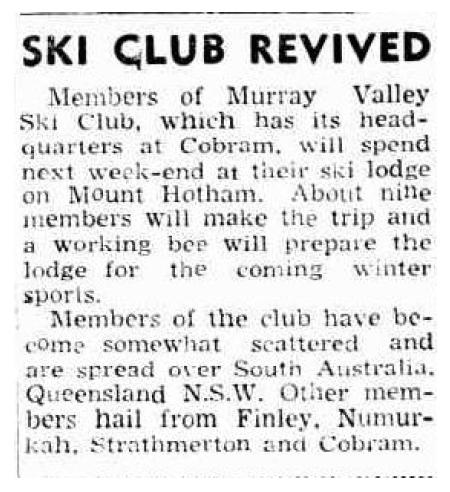 Ski Club Revived, Cobram Courier 28 January 1954.jpg
