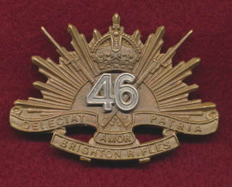 Hat badge of the Brighton Rifles