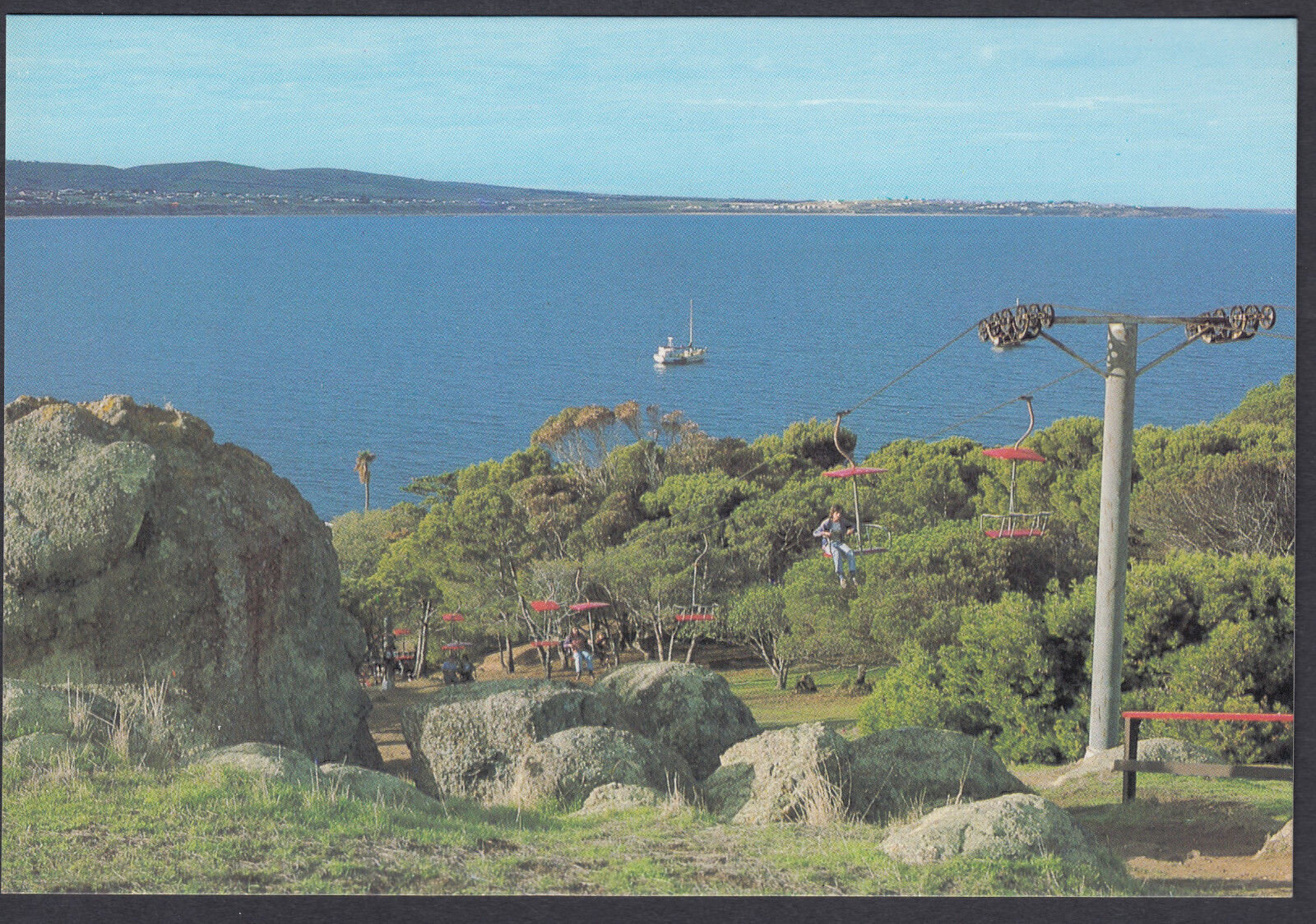 1978 postcard of Granite Island chairlift near Victor Harbour