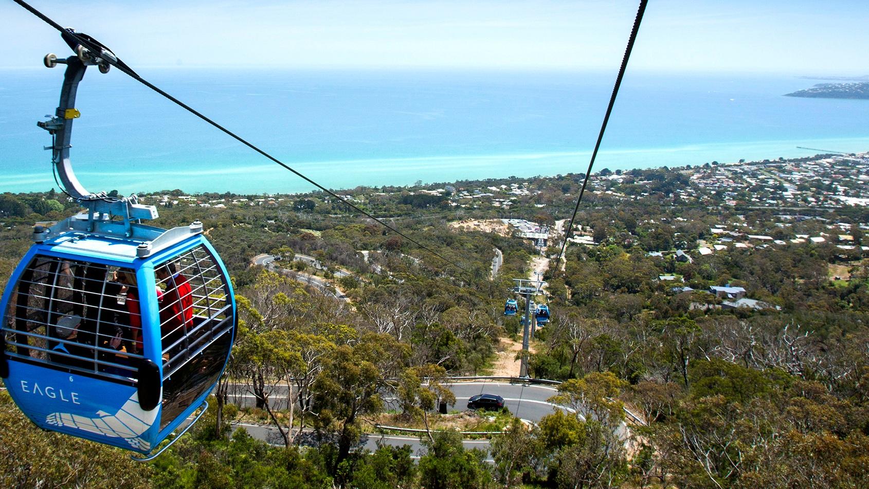 Arthurs Seat Eagle gondola on the Mornington Peninsula, Victoria.
