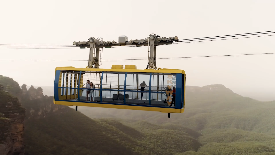 Scenic Skyway aerial tram in NSW. Photo: Scenic World