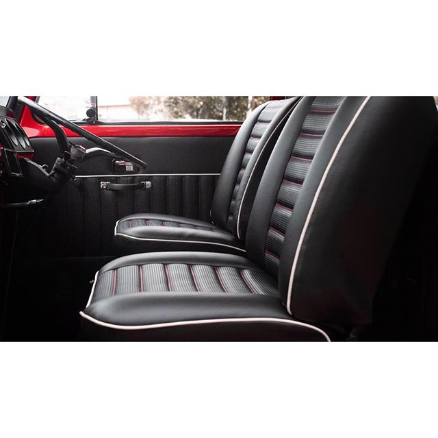 Red VW interior @qualitymotortrimming #qmt #vw #volkswagen