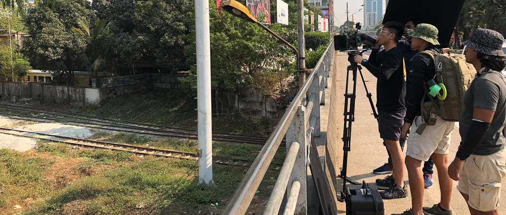 Filming B-rolls in Yangon, Myanmar. Mar 2018