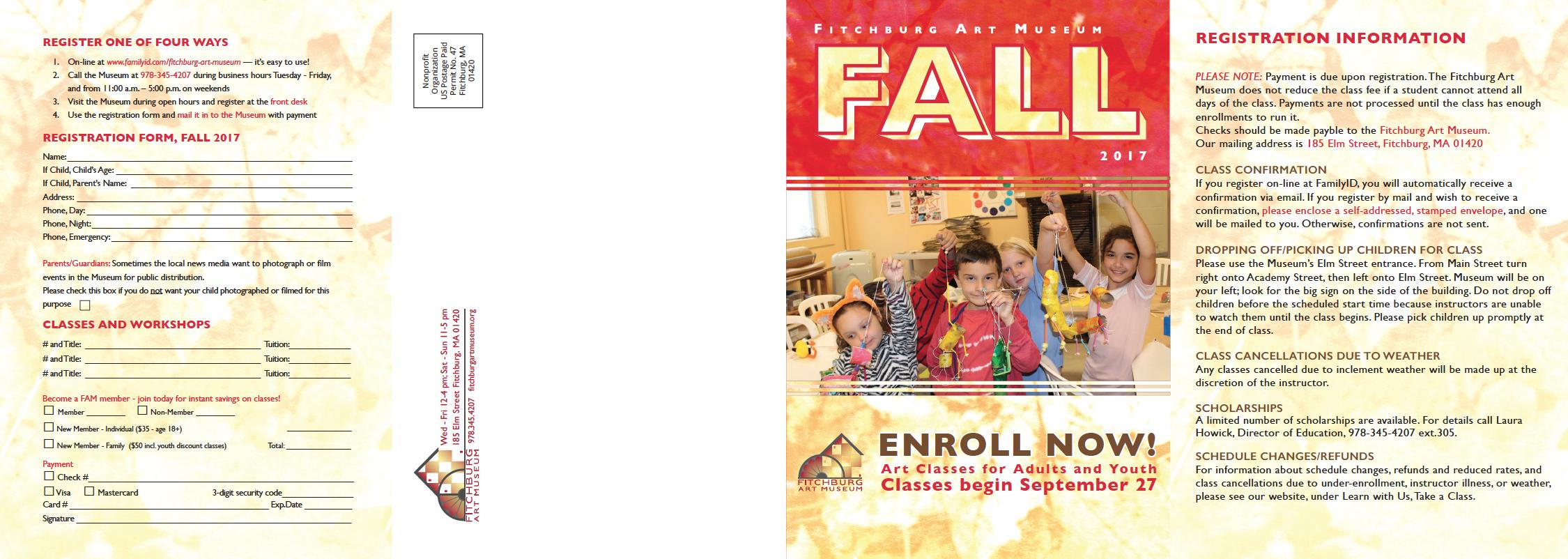 Fall classes brochure 2017_front