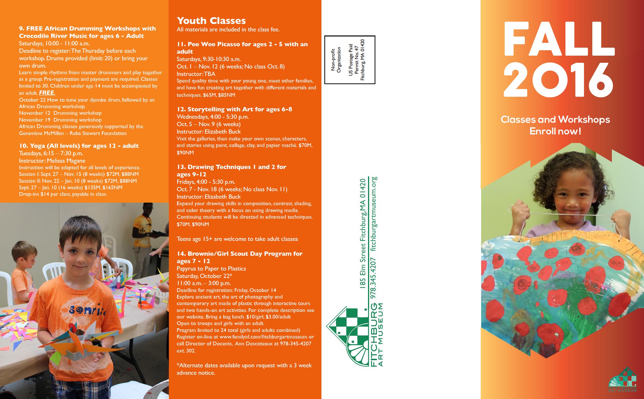 FAM fall classes brochure 2016