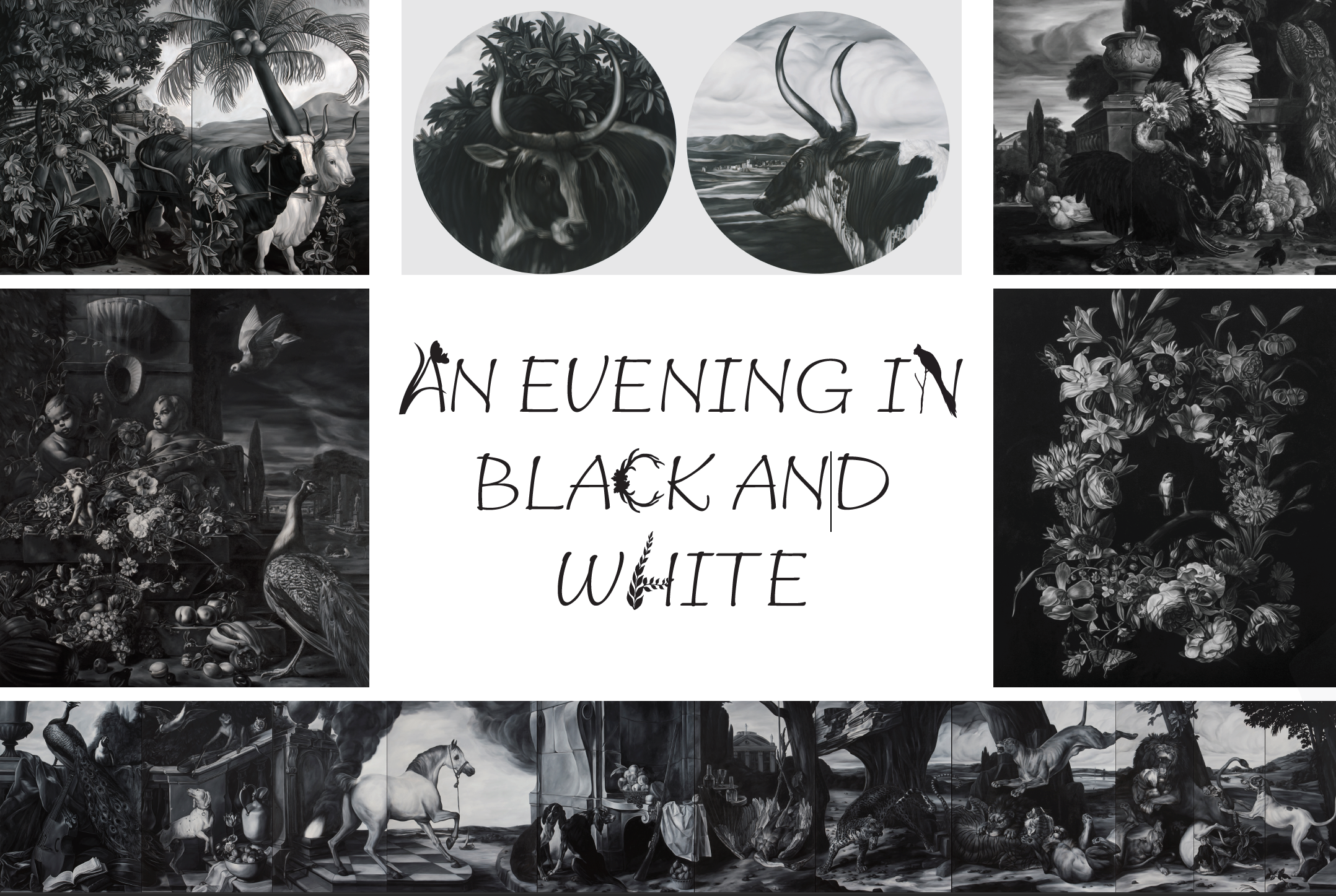 An evening with Black and White postcard