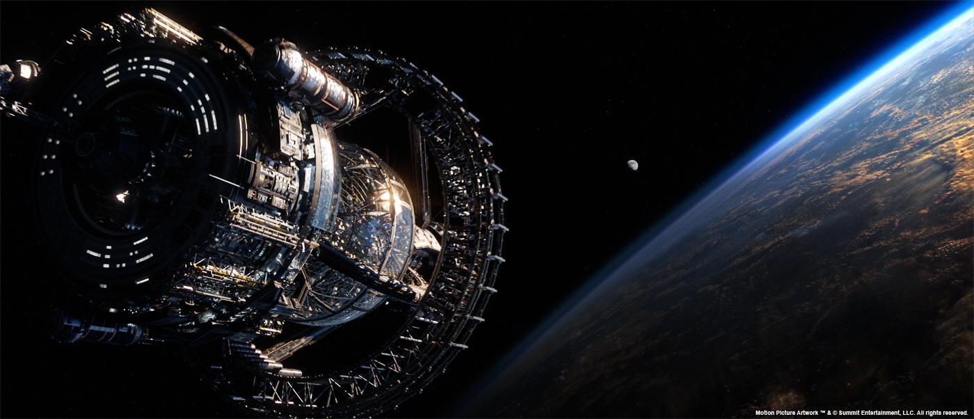 Nave espacial con la iluminación final.